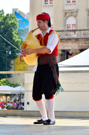 50th: Zagreb,Croatia. 23 Jul 2016. 50th International Folklore Festival at Ban Josip Jelacic square.