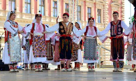 folklore: Zagreb,Croatia. 23 Jul 2016. 50th International Folklore Festival at Ban Josip Jelacic square.