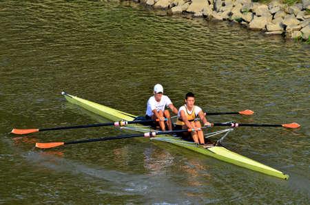 drava: Rowing on the river Drava, Osijek. Croatia