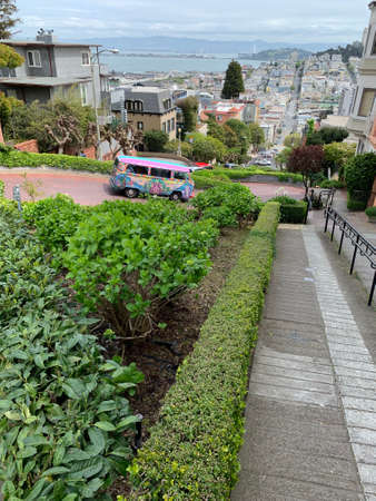 Up view from Lombard Street