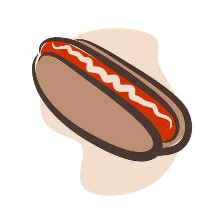 illustration of fast food tempting eyes,  hot dog