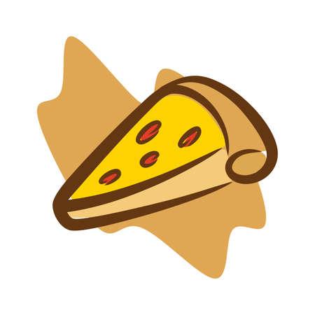 illustration of fast food tempting eyes Ilustração