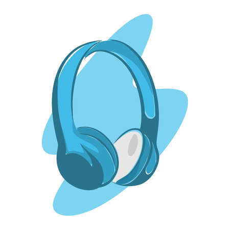 Illustration of a picture of headphones