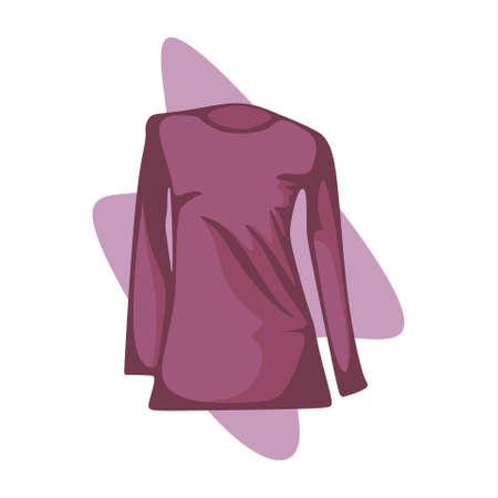 illustration of long shirt for women