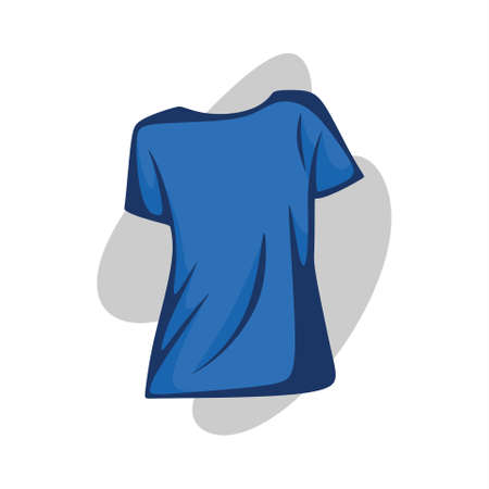 blue t-shirt picture illustration for women Illustration