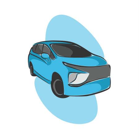 fancy and elegant city car illustrations Ilustração