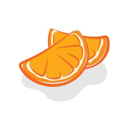 illustration of fresh and sweet orange fruit