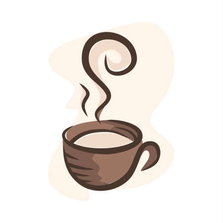 illustration of coffee in a cup Ilustração