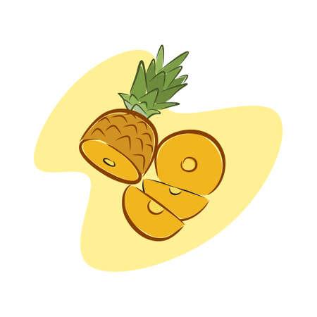 illustration of a refreshing honey pineapple