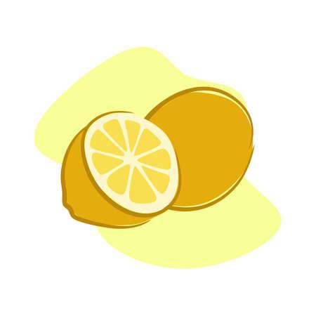 Lemon is refreshing and good for health Ilustração