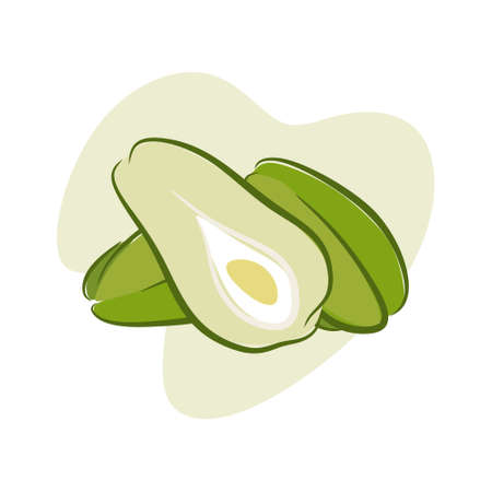 Clear green chayote very delicious made for salads