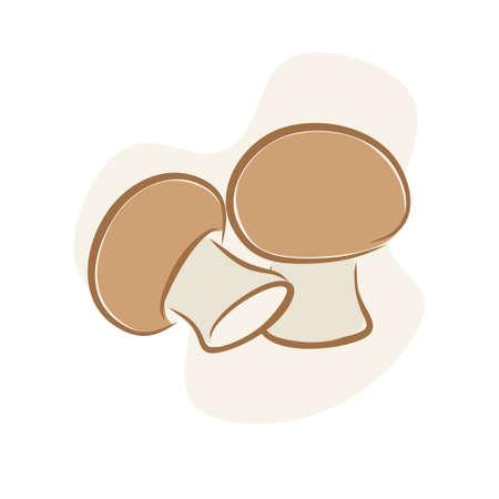 Tasty and savory soil mushrooms are consumed Ilustração