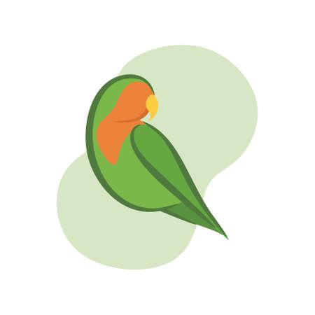 Lovebird de prachtige vogel uit het paradijs van de wereld
