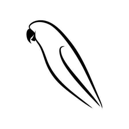 lovebirds in simple silhouette shapes Standard-Bild - 129168043