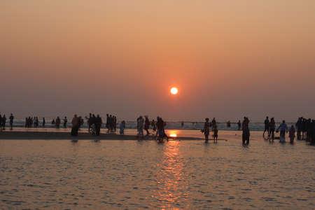 Sunset At The Largest Sea Beach Coxbazar Bangladesh