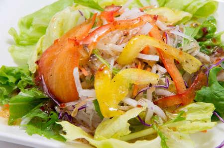 Mixed salad of radish and lettuce and paprika Stock Photo - 22659733