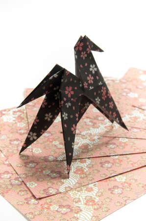 year        s: 2014 nuovo anno s carta di origami Archivio Fotografico