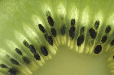 Closeup of a kiwi - abstract photo