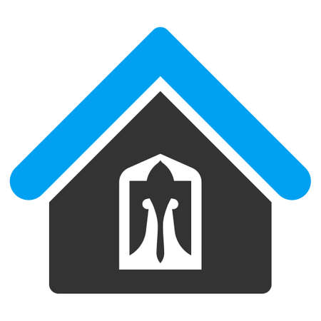 birthplace: Home icon from Business Bicolor Set. Vector style is bicolor flat symbol, blue and gray colors, rounded angles, white background.