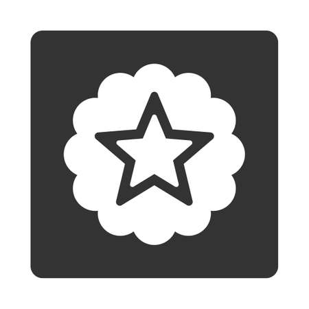 favorite number: Premium icon from Award Buttons OverColor Set. Icon style is white and gray colors, flat rounded square button, white background.