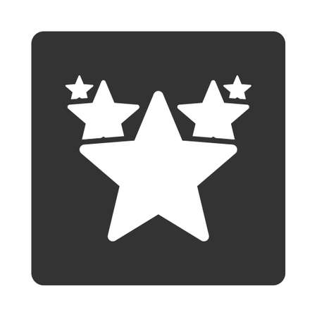 medal like: Hit parade icon from Award Buttons OverColor Set. Icon style is white and gray colors, flat rounded square button, white background. Illustration