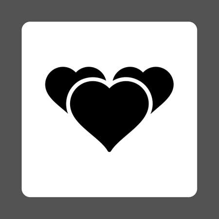 favourites: Favourites icon from Award Buttons OverColor Set. Icon style is black and white colors, flat rounded square button, gray background.