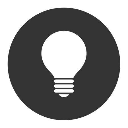 gray bulb: Electric Bulb icon from Primitive Round Buttons OverColor Set. This round flat button is drawn with white and gray colors on a white background.