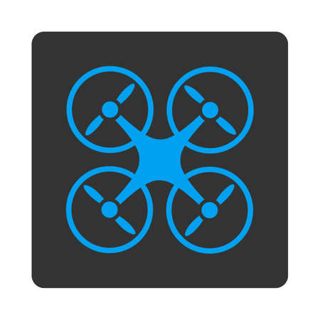 airflight: Nanocopter icon. Vector style is white and gray colors, flat rounded square button on a white background.