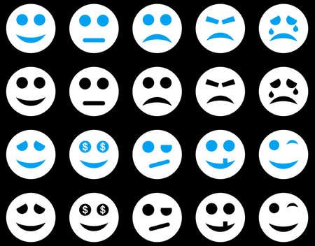 pity: Smile and emotion icons Illustration