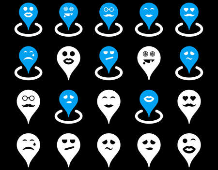 oldman: Smiled location icons