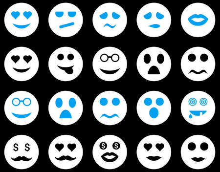 Smile and emotion icons Ilustrace