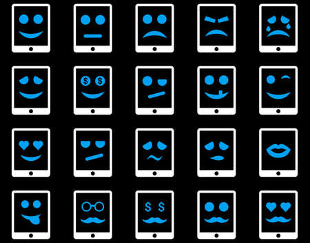 pity: Emotion mobile tablet icons Illustration