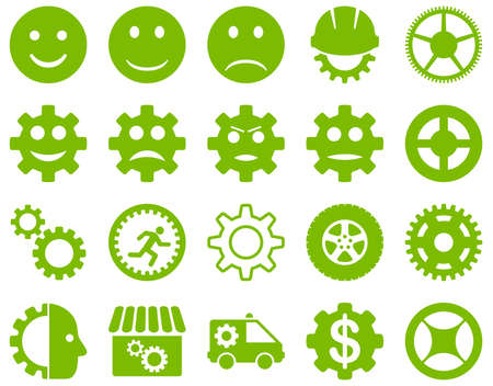 workhouse: Tools and Smile Gears Icons