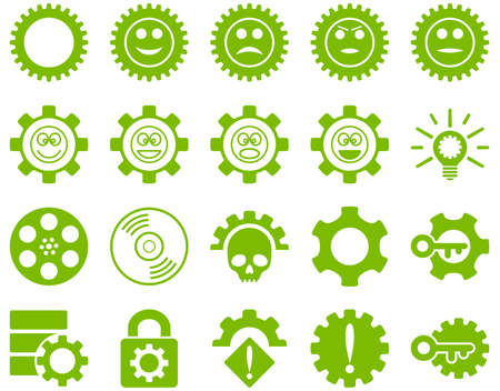 play poison: Tools and Smile Gears Icons