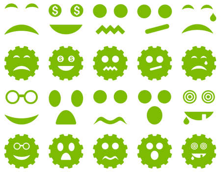 pity: Tool, gear, smile, emotion icons