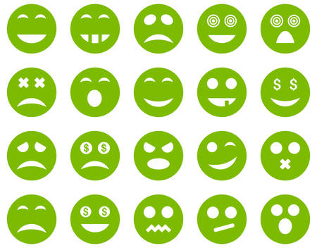 serious: Smile and emotion icons Illustration