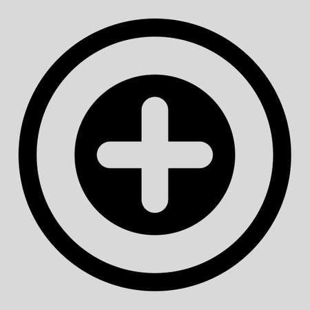 make summary: Create vector icon. This rounded flat symbol is drawn with black color on a light gray background.