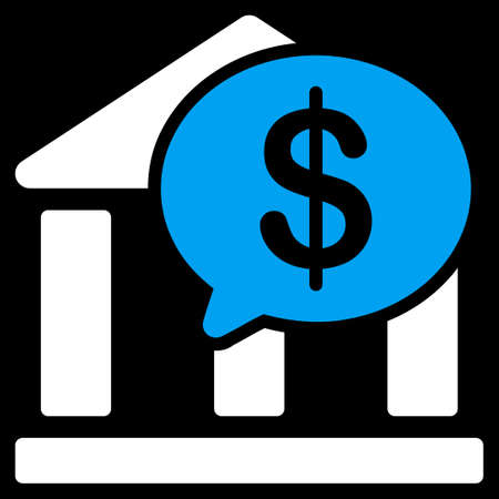 bank overschrijving: Bank Transfer icon. This flat raster symbol uses blue and white colors, rounded angles, and isolated on a black background.