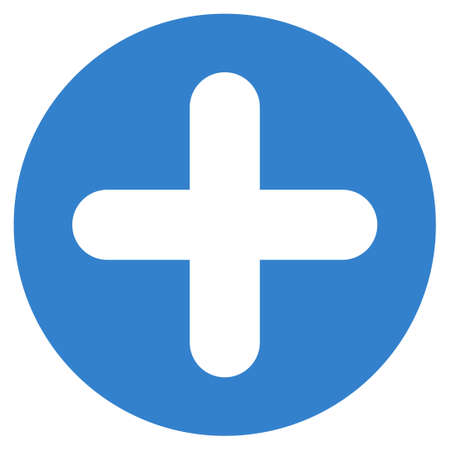 cobalt: Create icon from Primitive Set. This isolated flat symbol is drawn with cobalt color on a white background, angles are rounded.