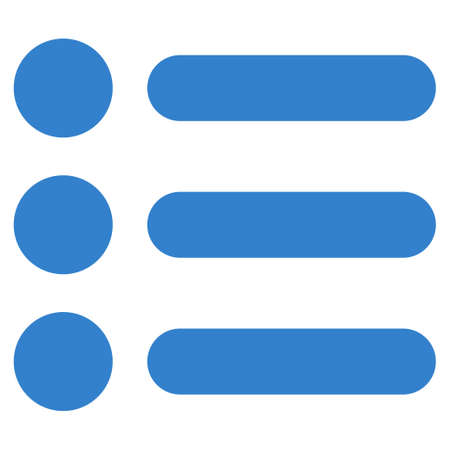 numerate: Items icon from Primitive Set. This isolated flat symbol is drawn with cobalt color on a white background, angles are rounded.