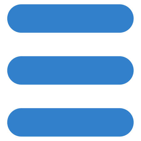 numerate: Stack icon from Primitive Set. This isolated flat symbol is drawn with cobalt color on a white background, angles are rounded.