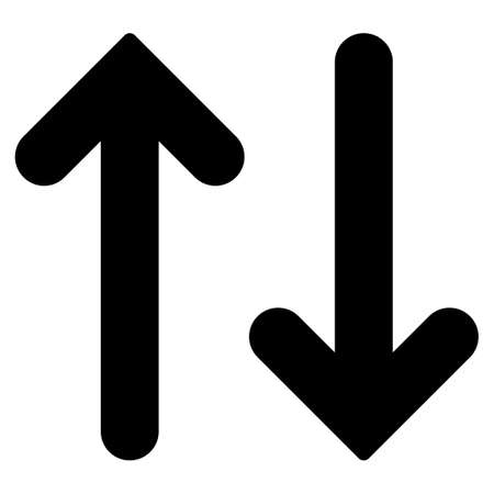 parallels: Flip Vertical icon from Primitive Set. This isolated flat symbol is drawn with black color on a white background, angles are rounded.