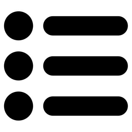numerate: Items icon from Primitive Set. This isolated flat symbol is drawn with black color on a white background, angles are rounded.