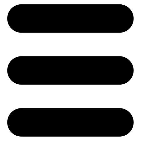 enumerated: Stack icon from Primitive Set. This isolated flat symbol is drawn with black color on a white background, angles are rounded.