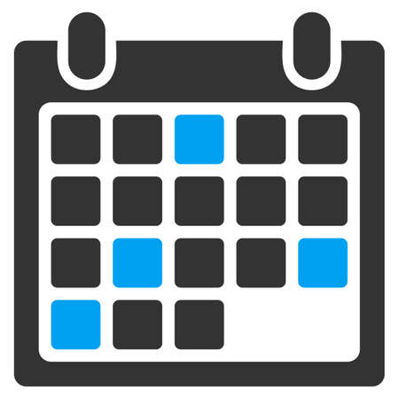 Calendar Appointment vector icon. Style is bicolor flat symbol, blue and gray colors, rounded angles, white background.