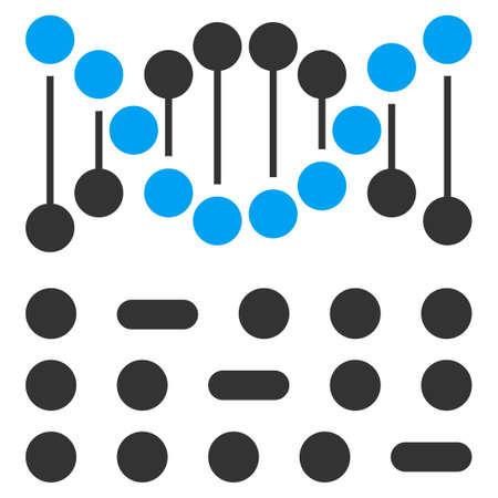 genetic: Genetic Code vector icon. Style is bicolor flat symbol, blue and gray colors, rounded angles, white background. Illustration
