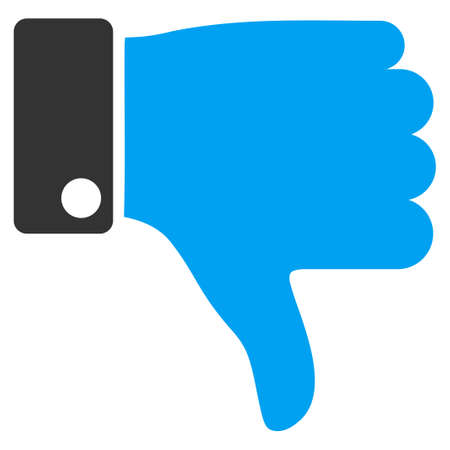 ugly gesture ugly gesture: Thumb Down vector icon. Style is bicolor flat symbol, blue and gray colors, rounded angles, white background.