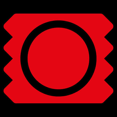 red condom: Condom raster icon. Style is flat symbol, red color, rounded angles, black background.