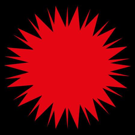 sporen: Microbe Spore Rastersymbol. Stil ist flach Symbol, rot, abgerundete Ecken, schwarzer Hintergrund.