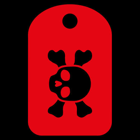 morgue: Morgue Mark raster icon. Style is flat symbol, red color, rounded angles, black background.